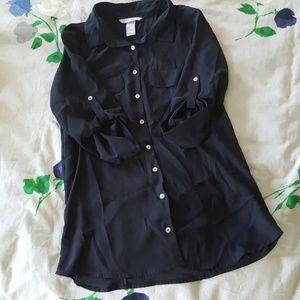H&M women's button down blouse